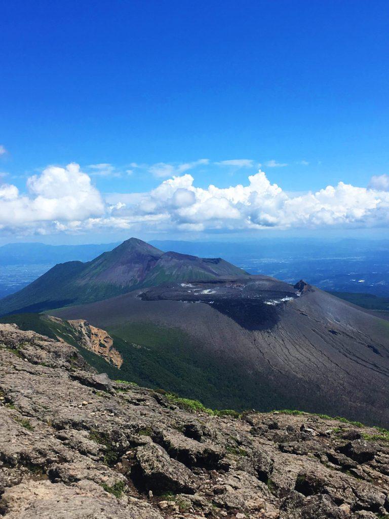 Aussicht auf die Vulkane im Kirishima Gebirge